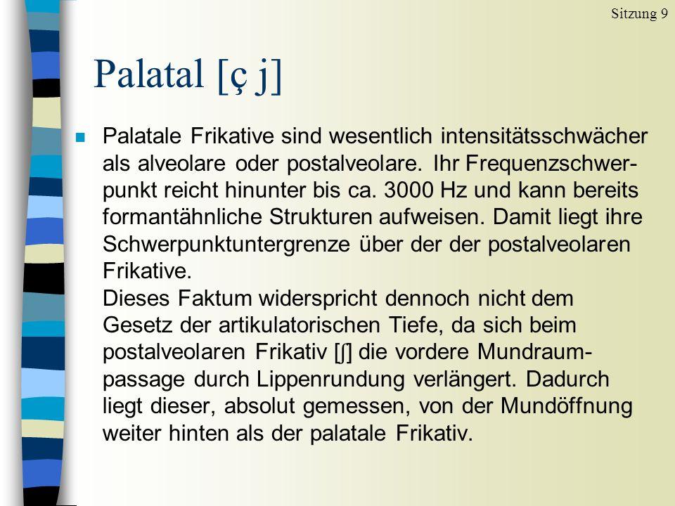 Sitzung 9 Palatal [ç j]